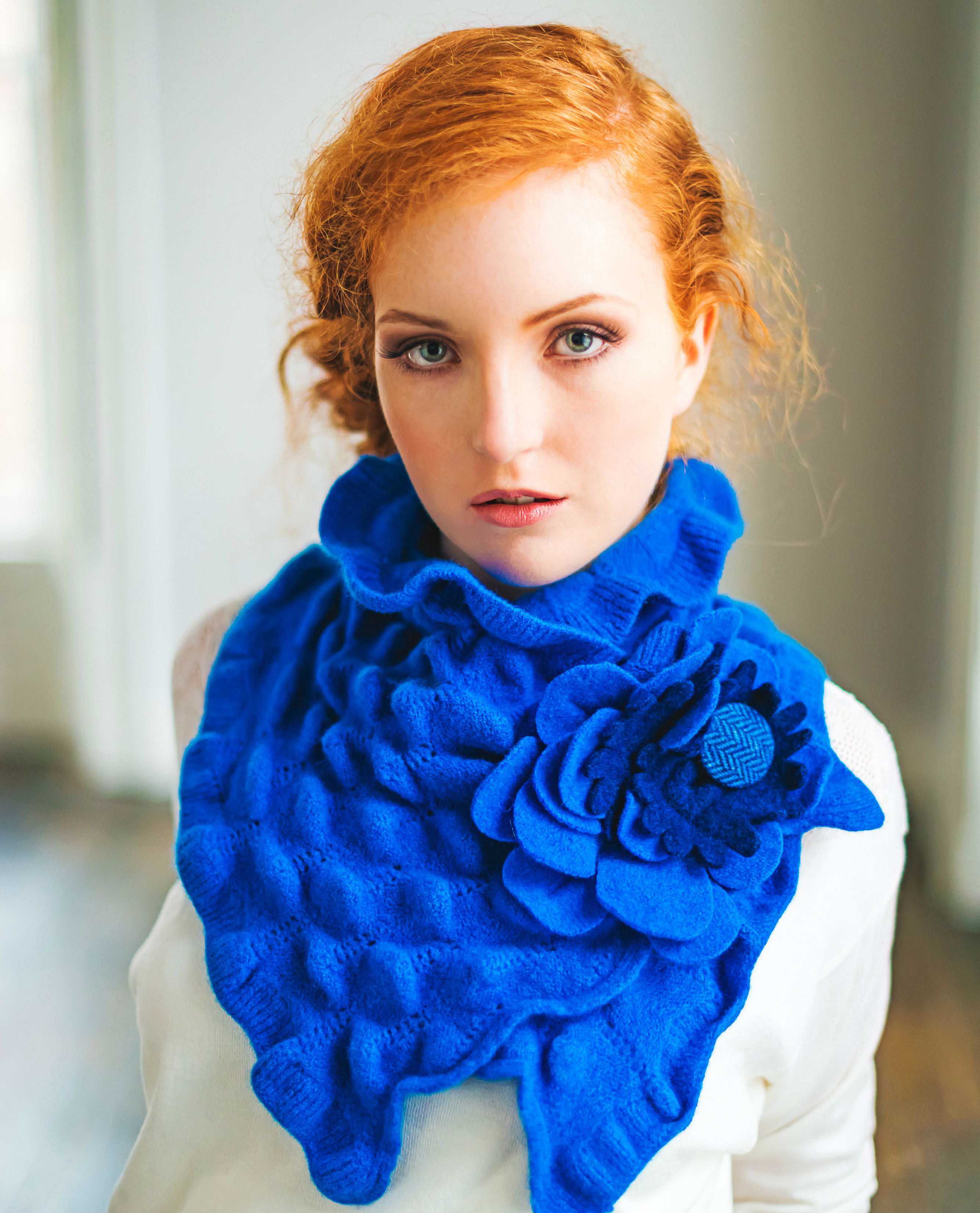 Blue Rose Collar by Aine McConnell