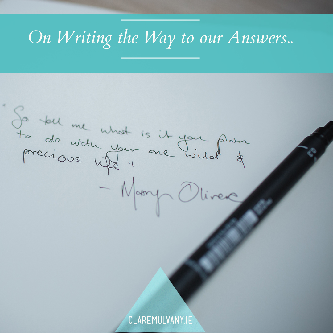 On Writing our Way to our Answers